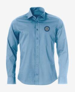 Afbeelding MBCN overhemd heren met logo op de borst blauw