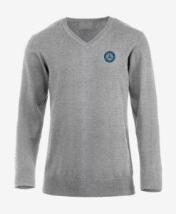 Afbeelding MBCN pullover met logo op de borst grijs