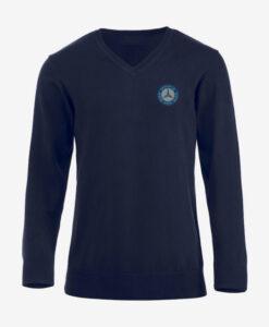 Afbeelding MBCN pullover met logo op de borst marine