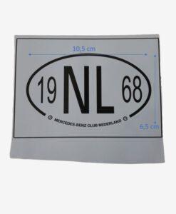 Afbeelding MBCN NL Sticker wit